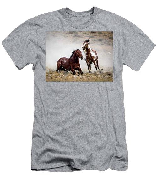 Picasso - Wild Stallion Battle Men's T-Shirt (Slim Fit) by Nadja Rider