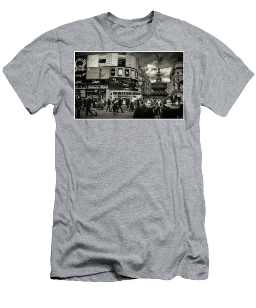 Men's T-Shirt (Athletic Fit) featuring the photograph Piccadilly  by Stewart Marsden