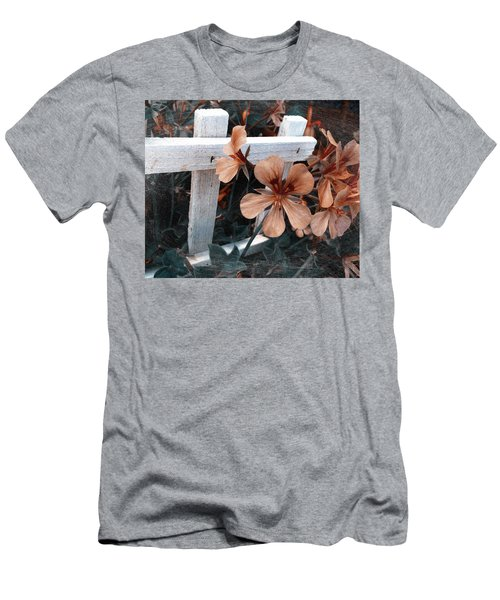 Picket Fence Blooms Men's T-Shirt (Athletic Fit)