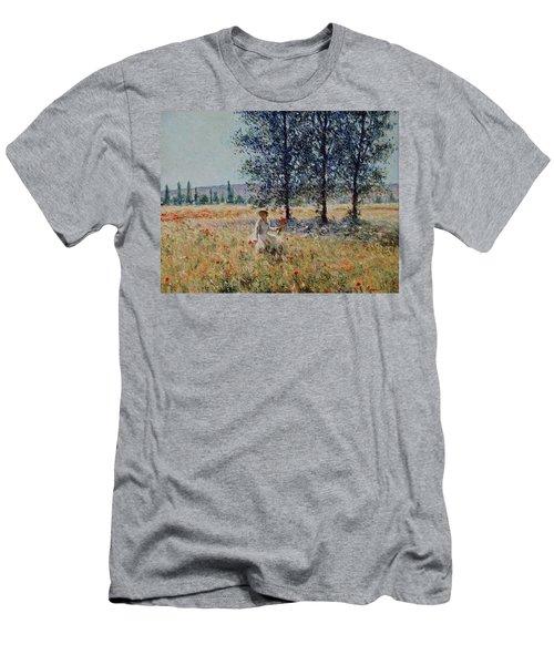 Picking Flowers  Men's T-Shirt (Slim Fit) by Pierre Van Dijk
