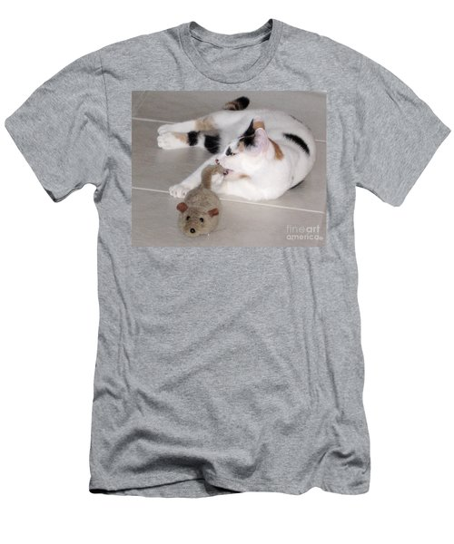 Men's T-Shirt (Slim Fit) featuring the photograph Pico And Toy Mouse by Phyllis Kaltenbach