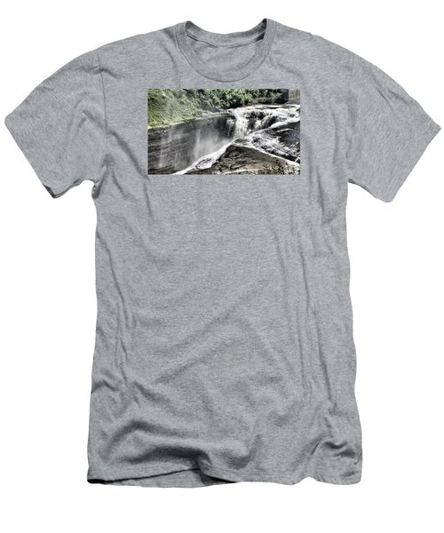Picture Of Waterfalls At Letchworth Men's T-Shirt (Athletic Fit)