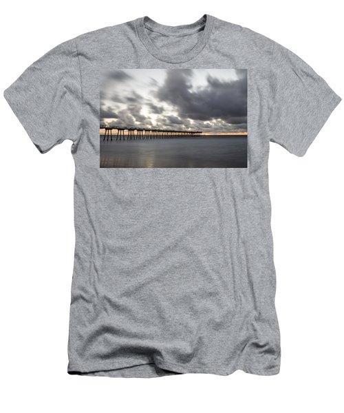 Pier In Misty Waters Men's T-Shirt (Athletic Fit)