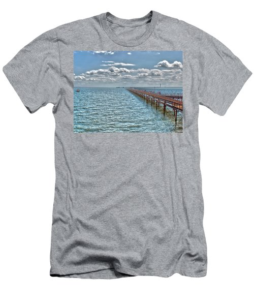 Pier Into The English Channel Men's T-Shirt (Athletic Fit)