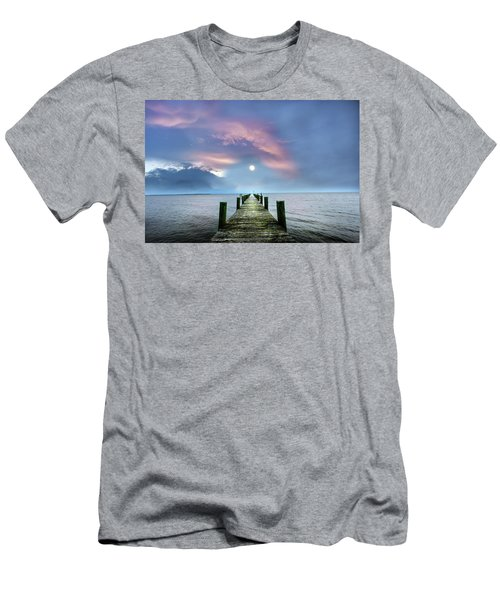 Pier To The Moon Men's T-Shirt (Athletic Fit)