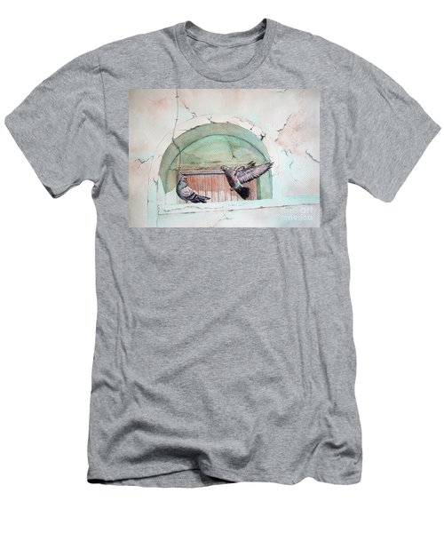 Pigeon Perch Men's T-Shirt (Athletic Fit)