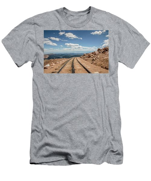 Pikes Peak Cog Railway Track At 14,110 Feet Men's T-Shirt (Athletic Fit)