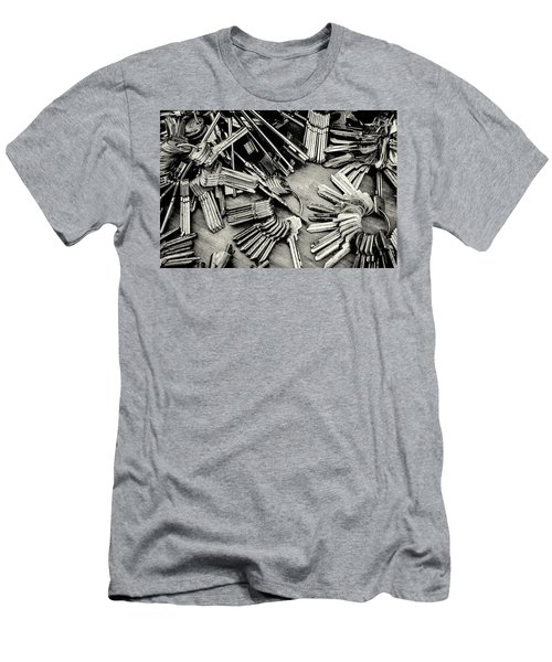 Piles Of Blank Keys In Monochrome Men's T-Shirt (Athletic Fit)