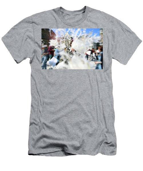 Pillow Fight Men's T-Shirt (Slim Fit) by Ana Mireles
