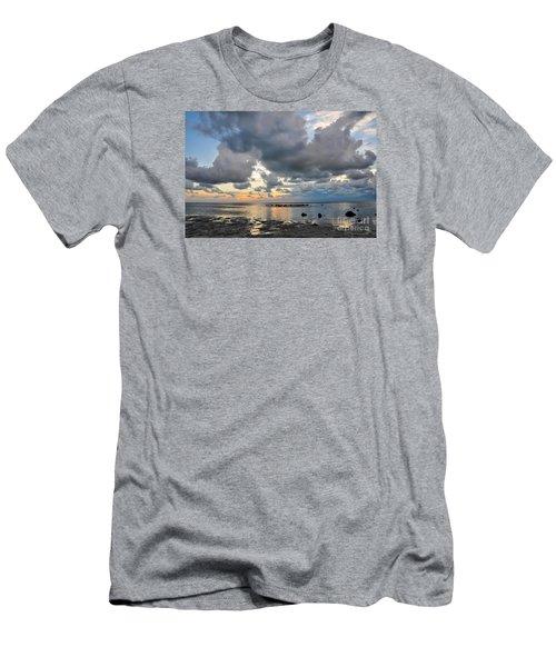 Pine Island Sunset Men's T-Shirt (Slim Fit) by Debbie Green
