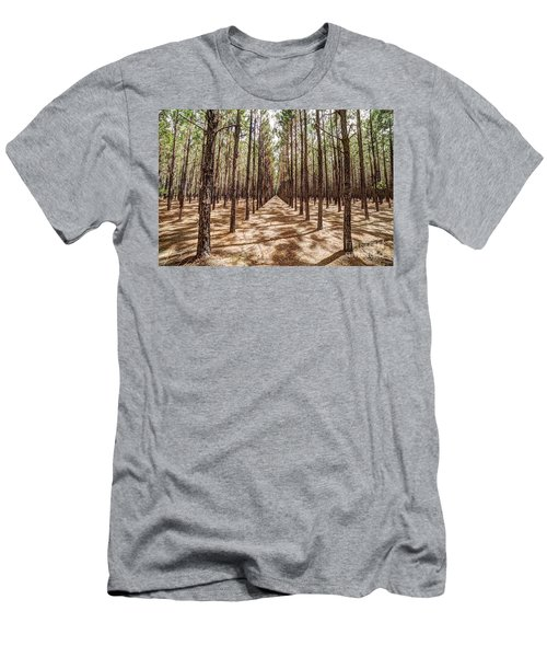 Men's T-Shirt (Athletic Fit) featuring the photograph Pine Plantation Wide Color by Tommy Patterson