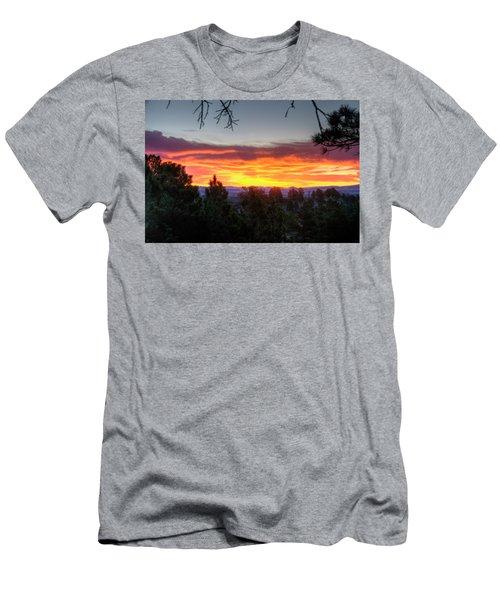 Pine Sunrise Men's T-Shirt (Slim Fit) by Fiskr Larsen