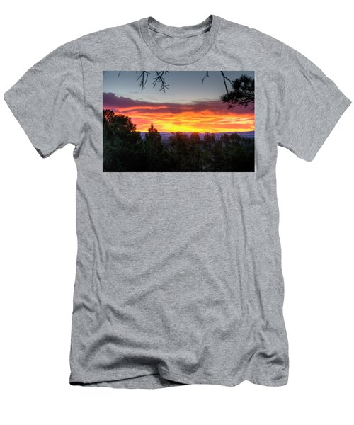 Pine Sunrise Men's T-Shirt (Athletic Fit)