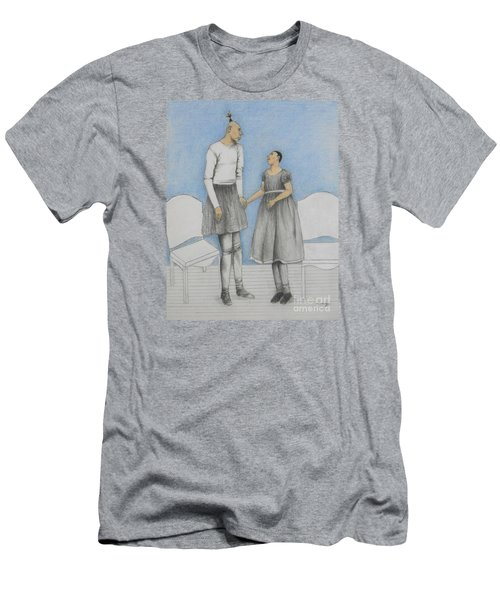 Pinhead Friends -- Portrait Of 2 Developmentally Disabled Men Men's T-Shirt (Athletic Fit)