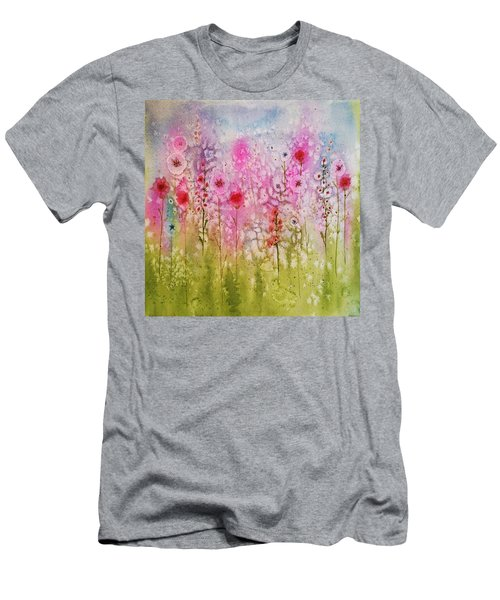 Pink Abstract Men's T-Shirt (Athletic Fit)
