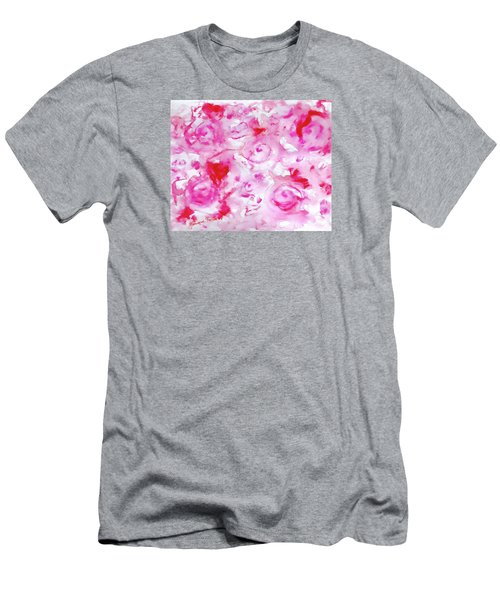 Pink Abstract Floral Men's T-Shirt (Athletic Fit)