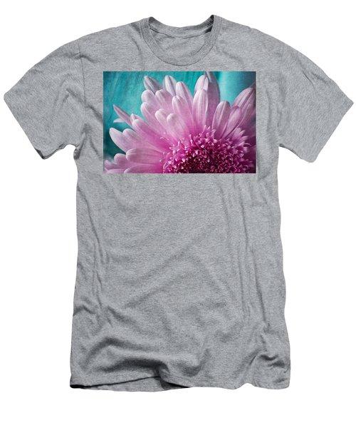 Pink And Aqua Men's T-Shirt (Athletic Fit)