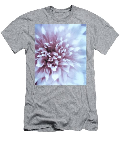 Pink And Blue Dahlia Men's T-Shirt (Athletic Fit)