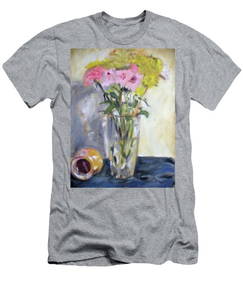 Pink And Yellow Flowers Men's T-Shirt (Athletic Fit)