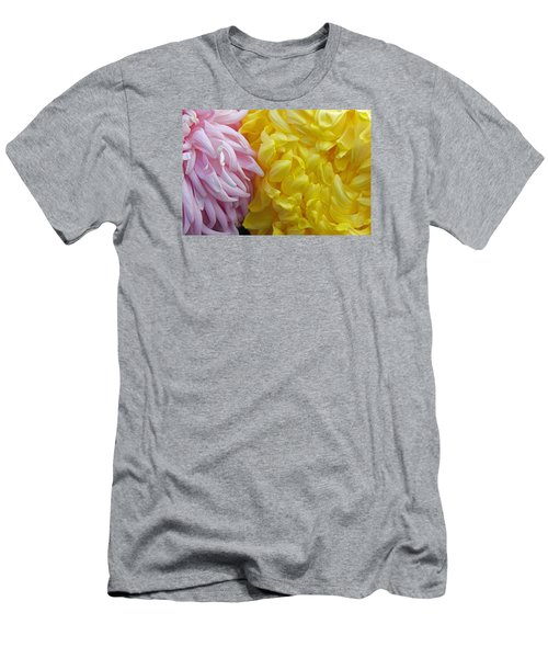 Pink And Yellow Mums Men's T-Shirt (Athletic Fit)