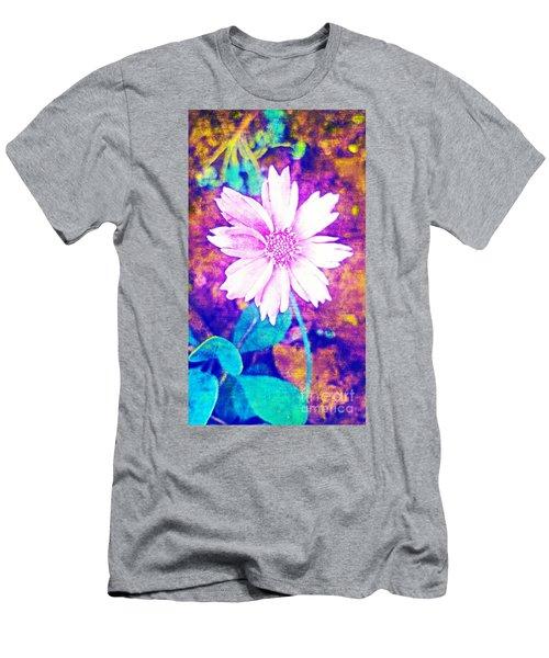 Pink Bloom Men's T-Shirt (Slim Fit) by Rachel Hannah