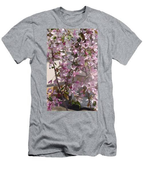 Pink Crabapple Branch Men's T-Shirt (Athletic Fit)