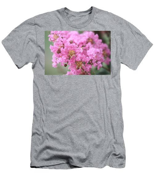 Men's T-Shirt (Athletic Fit) featuring the photograph Pink Crepe Myrtle Close-up by Sheila Brown