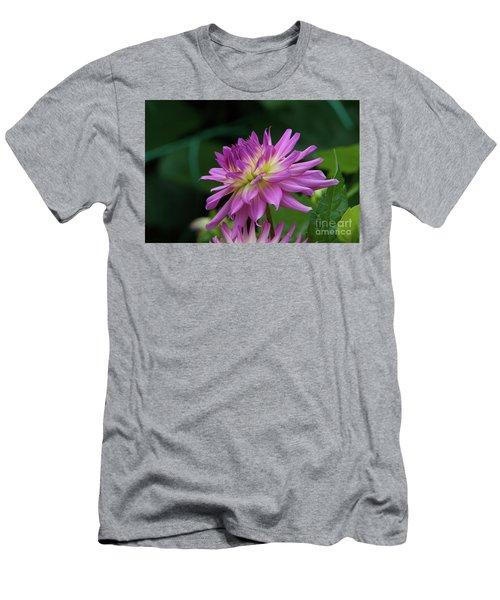 Pink Dahlia Men's T-Shirt (Slim Fit) by Glenn Franco Simmons