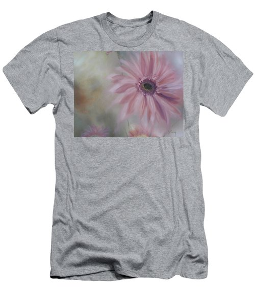Men's T-Shirt (Slim Fit) featuring the painting Pink Daisies by Donna Tuten