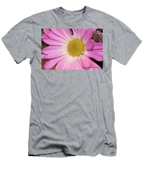 Pink Daisy Men's T-Shirt (Slim Fit) by Nance Larson