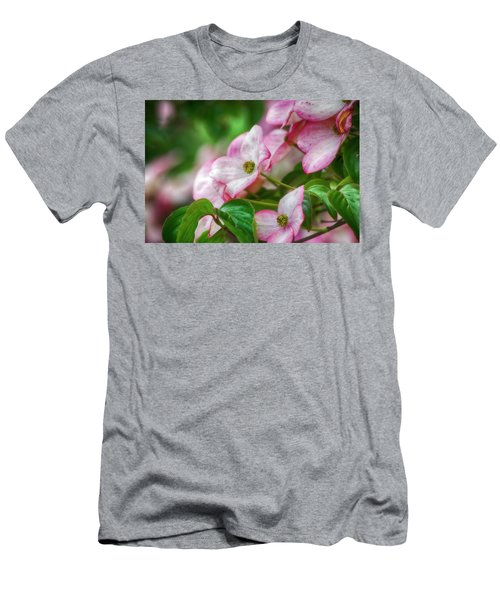 Men's T-Shirt (Slim Fit) featuring the photograph Pink Dogwood by Bonnie Bruno