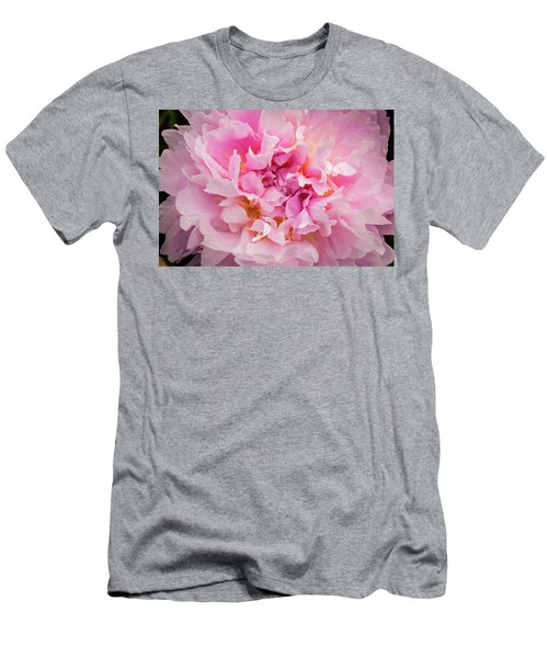 Pink Double Peony Men's T-Shirt (Athletic Fit)
