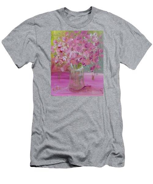 Pink Explosion Men's T-Shirt (Slim Fit) by Terri Einer