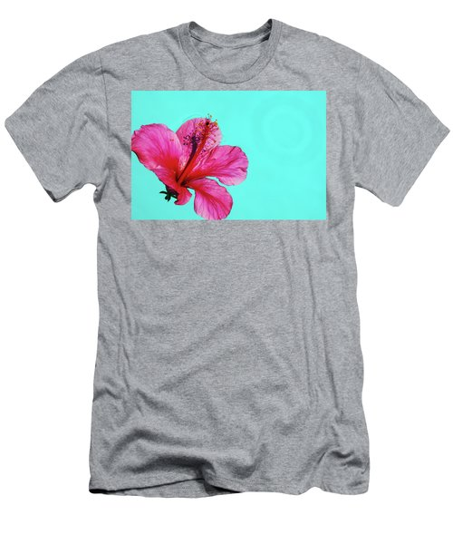 Pink Flower In Water Men's T-Shirt (Athletic Fit)