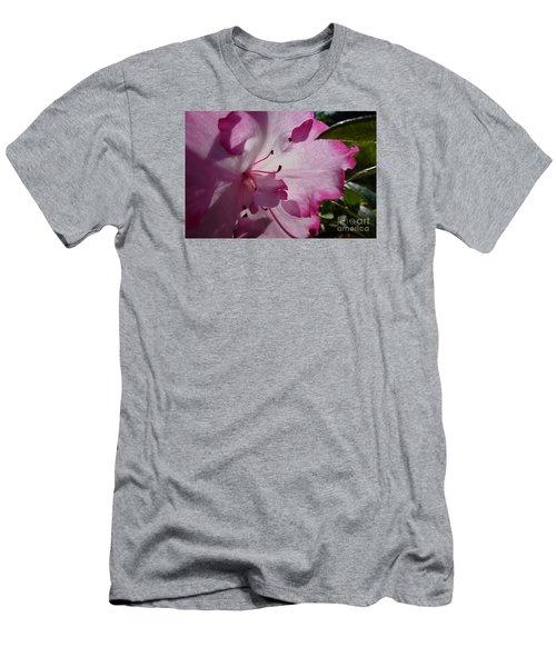 Pink Flowers 1 Men's T-Shirt (Slim Fit) by Jean Bernard Roussilhe