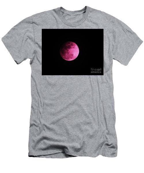 Pink Full Moon In April 2017 Men's T-Shirt (Slim Fit) by J L Zarek