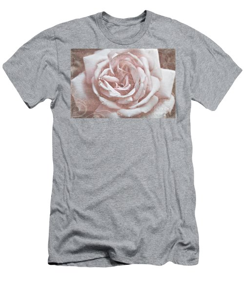 Pink Garden Rose Men's T-Shirt (Athletic Fit)