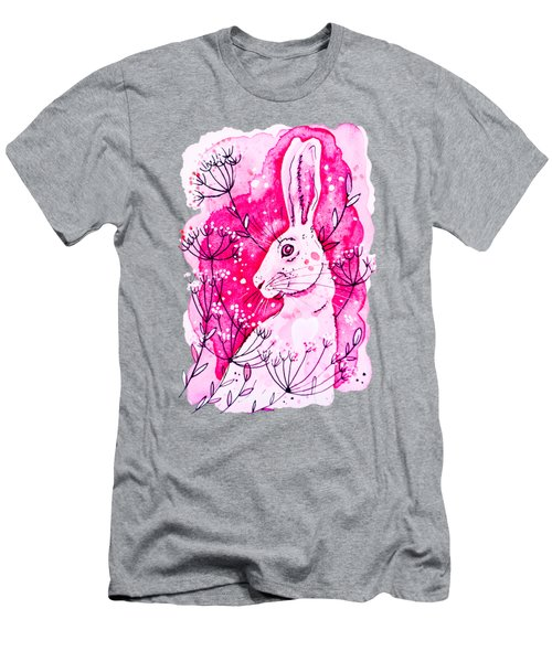 Pink Hare Men's T-Shirt (Athletic Fit)