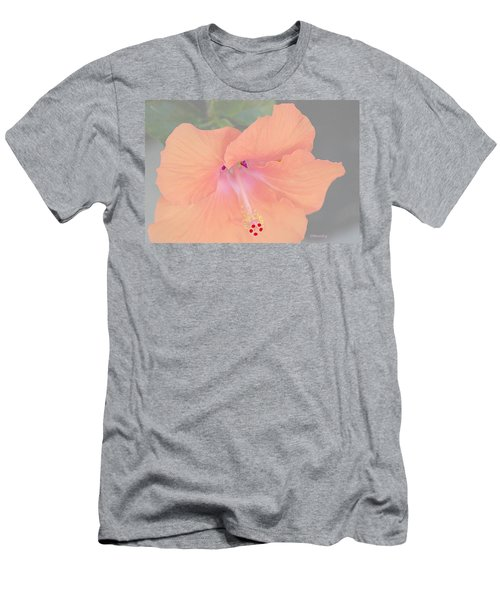 Men's T-Shirt (Athletic Fit) featuring the photograph Pink Heavenly Hibiscus by Donna Bentley
