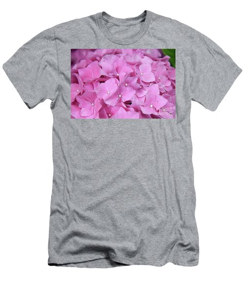 Pink Hydrangea Men's T-Shirt (Slim Fit) by Elvira Ladocki