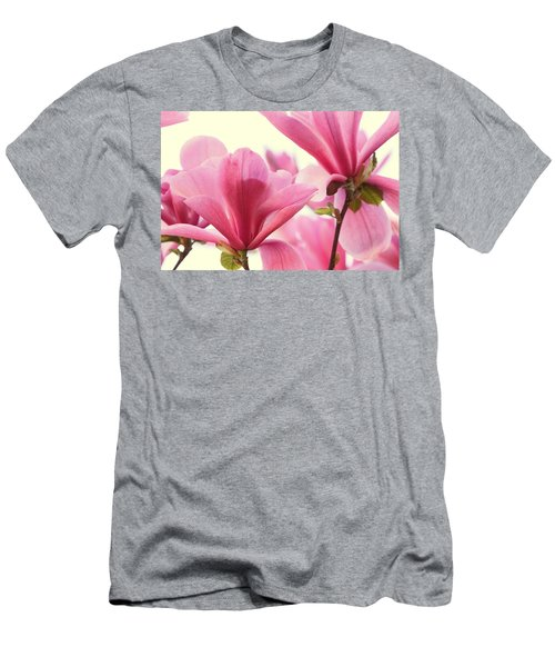 Men's T-Shirt (Slim Fit) featuring the photograph Pink Magnolias by Peggy Collins