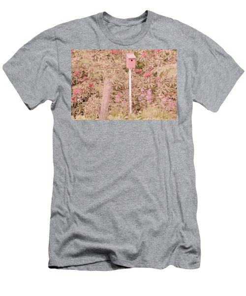 Men's T-Shirt (Slim Fit) featuring the photograph Pink Nesting Box by Bonnie Bruno
