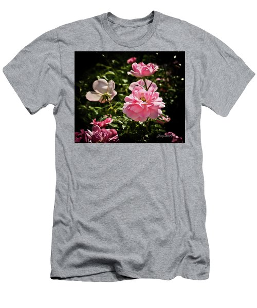 Men's T-Shirt (Slim Fit) featuring the photograph Pink Passion  by Joann Copeland-Paul