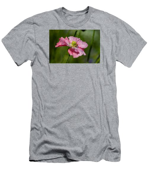 Pink Poppy Men's T-Shirt (Slim Fit) by Martina Fagan