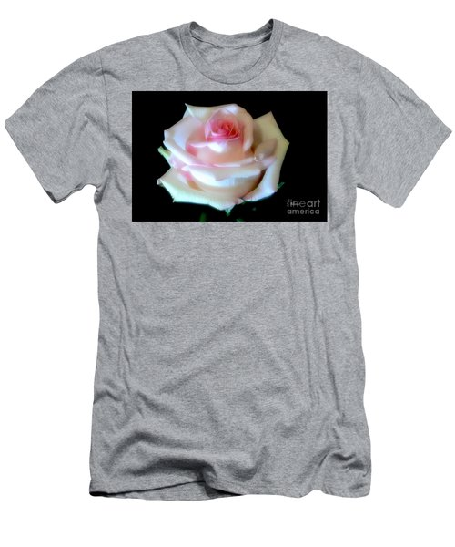 Pink Rose Bud Men's T-Shirt (Slim Fit) by Jeannie Rhode