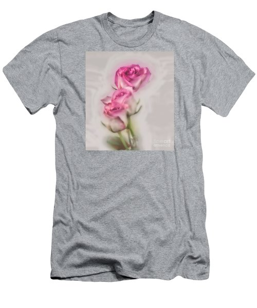 Pink Roses Men's T-Shirt (Slim Fit) by Shirley Mangini