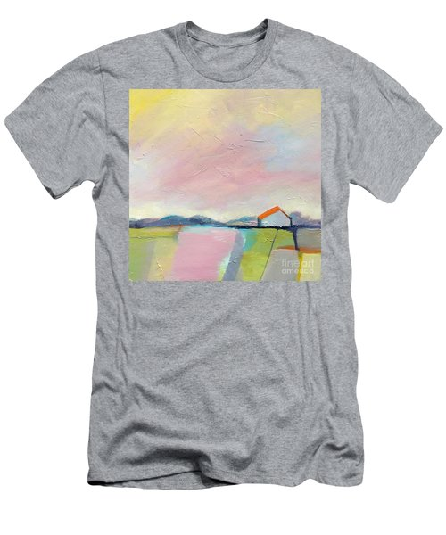 Men's T-Shirt (Athletic Fit) featuring the painting Pink Sky by Michelle Abrams