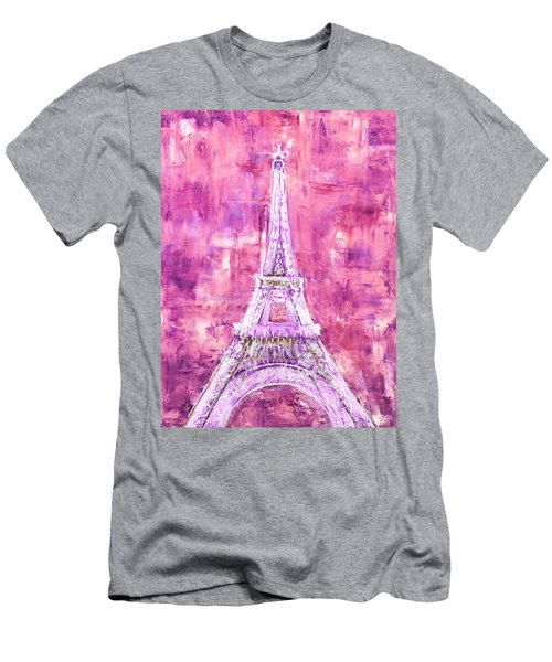 Pink Tower Men's T-Shirt (Athletic Fit)