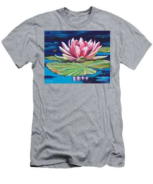 Men's T-Shirt (Athletic Fit) featuring the painting Pink Tranquility by Mary Scott