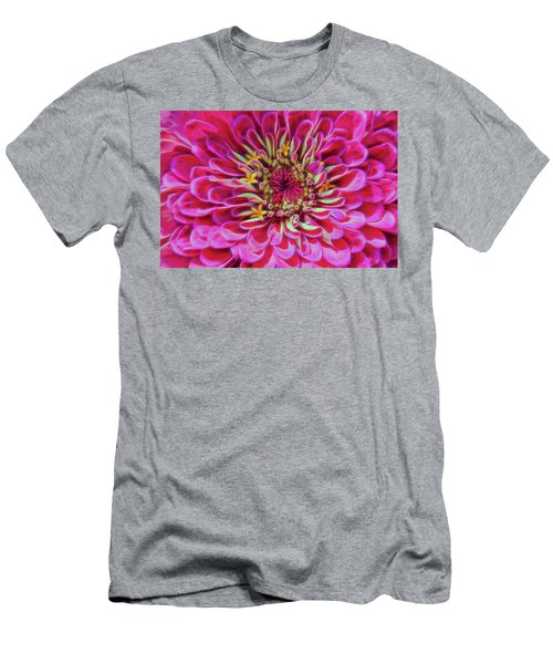 Pink Zinnia Glow Men's T-Shirt (Athletic Fit)